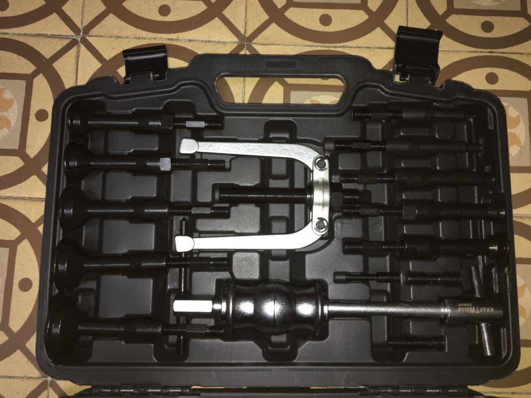 Vytahovák vnitřních ložisek, sada s reverzním kladivem KW D1050-F05403 KRAFTWELLE,FALCON