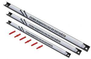 Magnetické lišty na nářadí-sada 3 kusů 23cm,37cm,48cm F03039