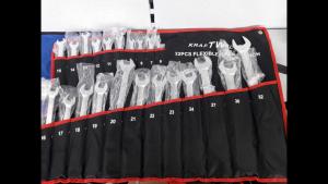 Očkoploché klíče ráčnové-lámací 22 kusů