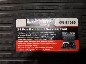 Přípravek pro montáž a demontáž kulových čepů silenbloků KW B 1060 kraftwelle
