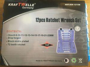 Sada ráčnových klíčů-pevné KW1215N KRAFTWELLE