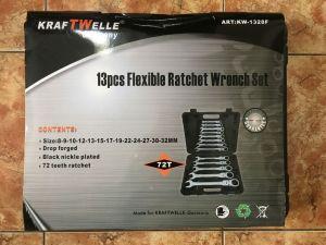 Sada ráčnových očkoplochých klíčů lámací kloubové 13 KS kw 1328f KRAFTWELLE