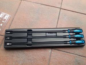 Šroubováky elastické ohebné extra dlouhé 60cm DRŽENÍ -1/4 OŘECH -MAGNETICKÉA - NA KULIČKU