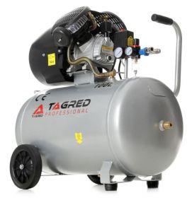 Dvoupístový olejový kompresor včetně separátoru s tlakovou nádobou 100L TAGRED